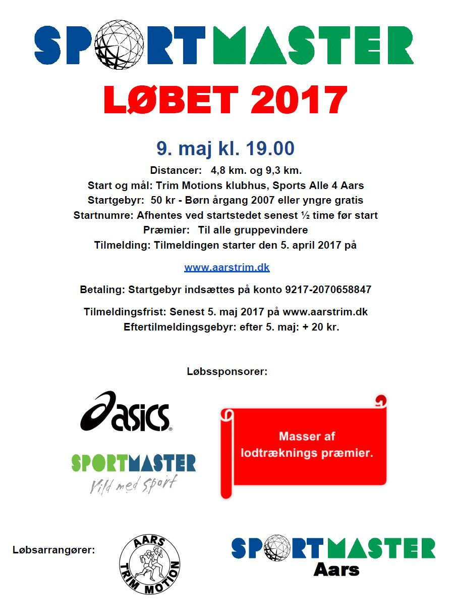 Sportmasterløb 2017